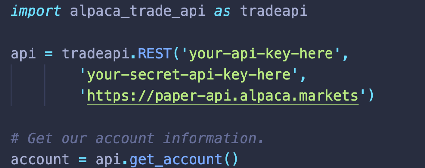 Code for API Keys