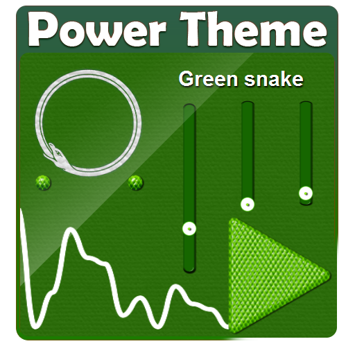 Green snake PowerAmp Theme