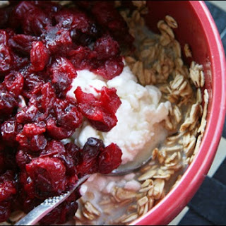 Spiced Cranberry Compote Oatmeal