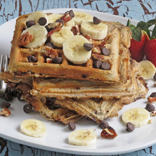 Chocolate Chip Whole Grain Waffles
