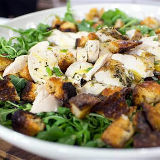 Roasted Chicken with Bread Salad