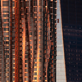 Architectural Abstract by VAM Photography - Buildings & Architecture Office Buildings & Hotels ( places, sunrise, exterior, weather, nyc, abstract, architecture )