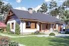 projekt domu Julek PS z garażem 1-st. A na paliwo stałe