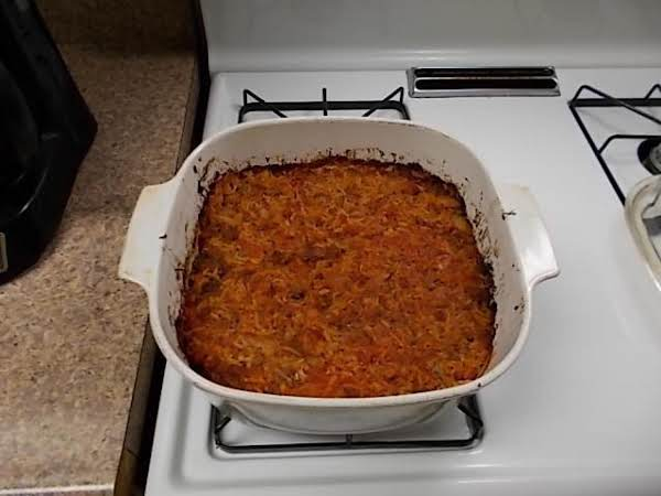 Finished Casserole.  Delicious.  I May Even Recommend A Can Of Sweet Whole Kernel Corn, Drained To Give It A Little Sweet Taste.