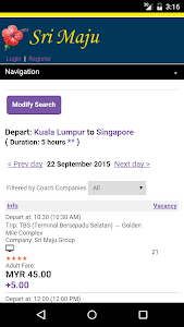Sri Maju Bus Ticket screenshot 2
