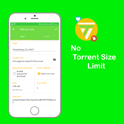 Torrenty-Torrent Pro Client BitTorrent Downloader 2.0. screenshots 3