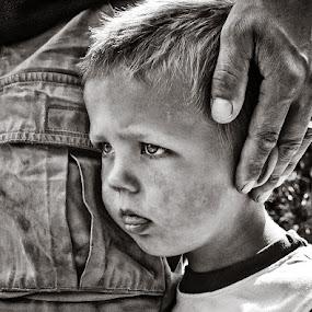 I´m safe under the hands of my father by Annelie Hallberg - Babies & Children Children Candids