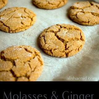 Ginger and Molasses Crinkle Cookies