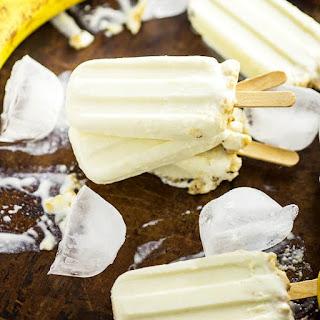 Banana Cream Pie Popsicles.