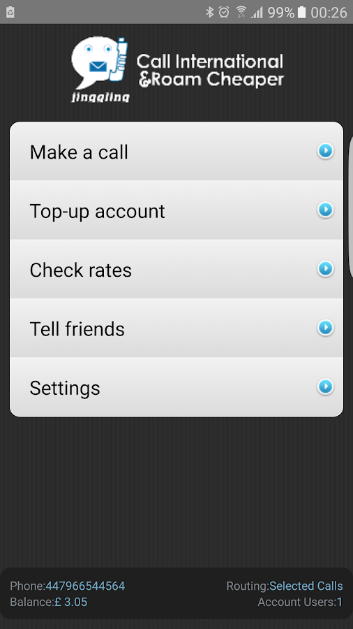 Cheap International Calls apps- screenshot