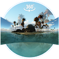VR Panoramic Tropical Island 3D Live Wallpaper