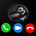 Fake  Call From Scary cartoon dog Horror Prank icon
