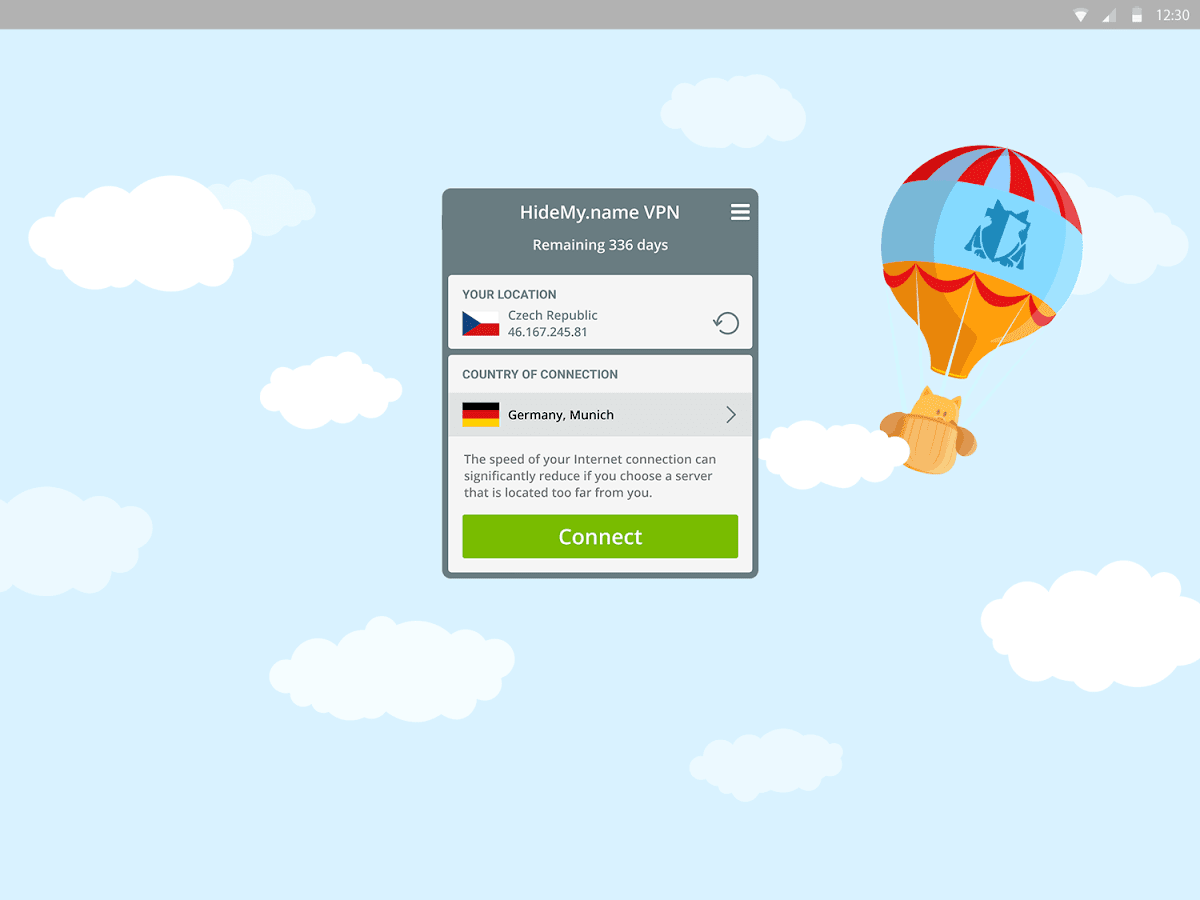 HideMy.name VPN- screenshot