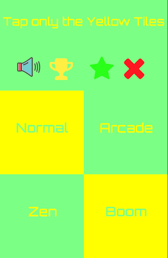 Yellow Piano Tiles