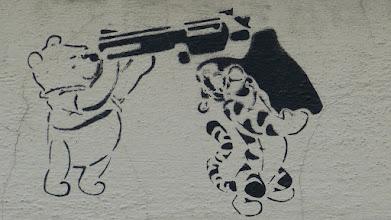 "Photo: Stencil; Unknown Artist; ""Winnie the Pooh & Tigger"""