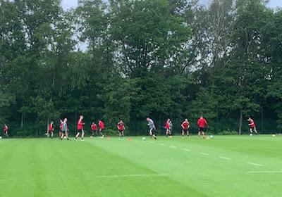 Standard de Liège : 17 joueurs à l'entraînement