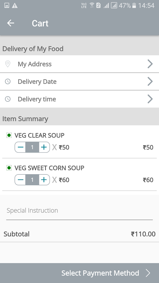 Order Food Online Delivery 0Km- screenshot