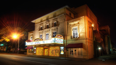Photo: Savannah's Lucas Theatre  The Lucas Theatre in Savannah really caught my eye on an evening photo walk. I only spent a night in Savannah during my trip home from the D.C. area, but it was a cool place to walk around and explore. Live music playing through the air, plenty of restaurants and activity, old oak trees and some great old buildings to explore. The marquee on this theatre grabbed my attention.  One thing I like about visiting historic old places is looking at the detail and intricacies used in buildings. It's much more fascinating than looking at another glass-panel office building.  Please visit the blog at http://williambeem.com