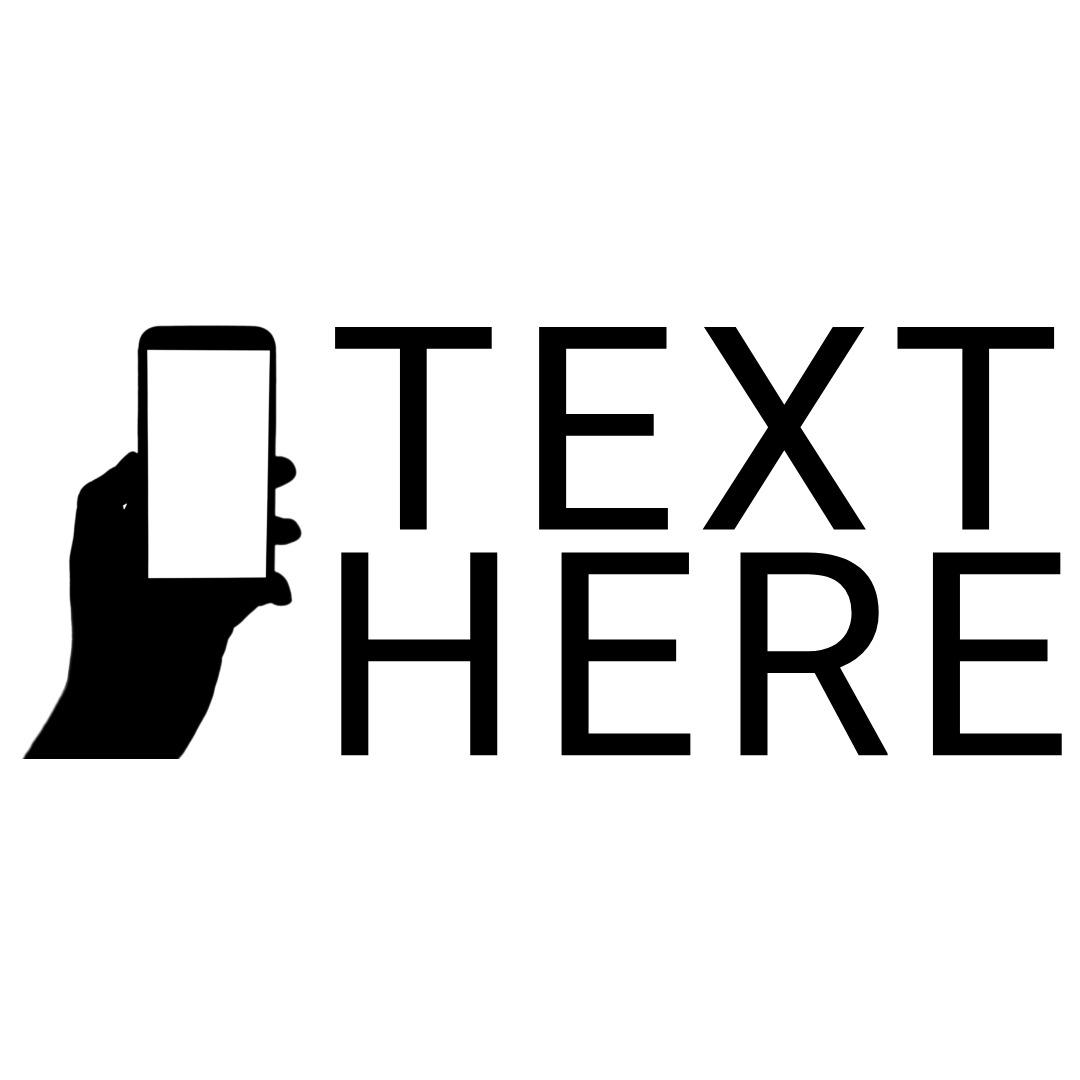 hand holding phone logo