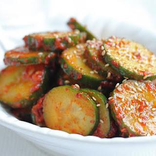 "Korean Spicy Cucumber Salad ""Banchan"""