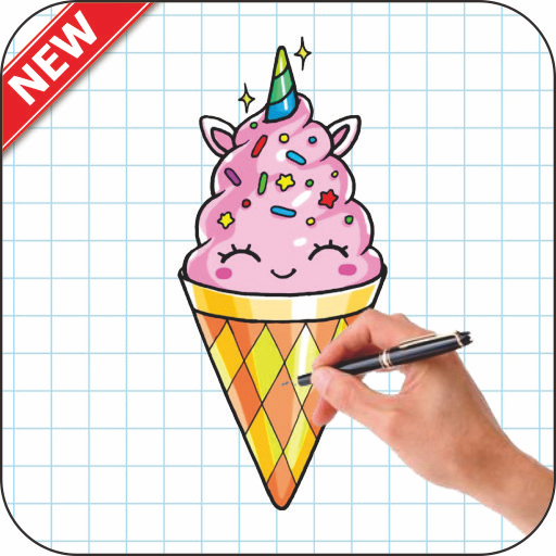 How To Draw smiley ice cream - Apl di Google Play