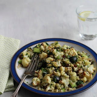 Roasted Cauliflower Buckwheat Salad with Olives & Capers