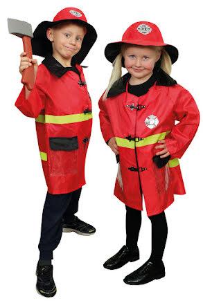 Brandmansjacka med tillbehör