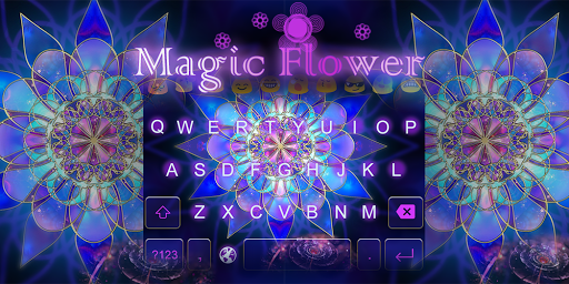 Emoji Keyboard-Magic Flower