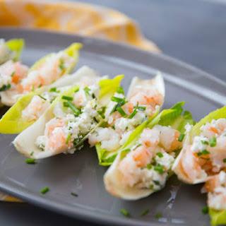 Endive with Shrimp Salad.