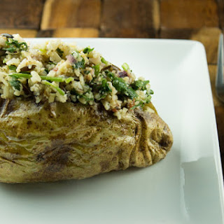 Herbed Wild Rice Stuffed Potatoes