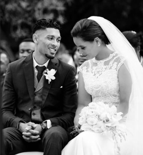 Wayde van Niekerk and Chesney Campbell's were surrounded by loved ones on their special day.