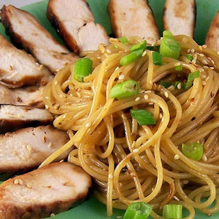 Funky Chicken and Sesame Noodles.