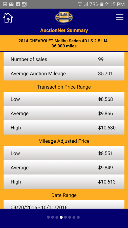 NADA MarketValues- screenshot