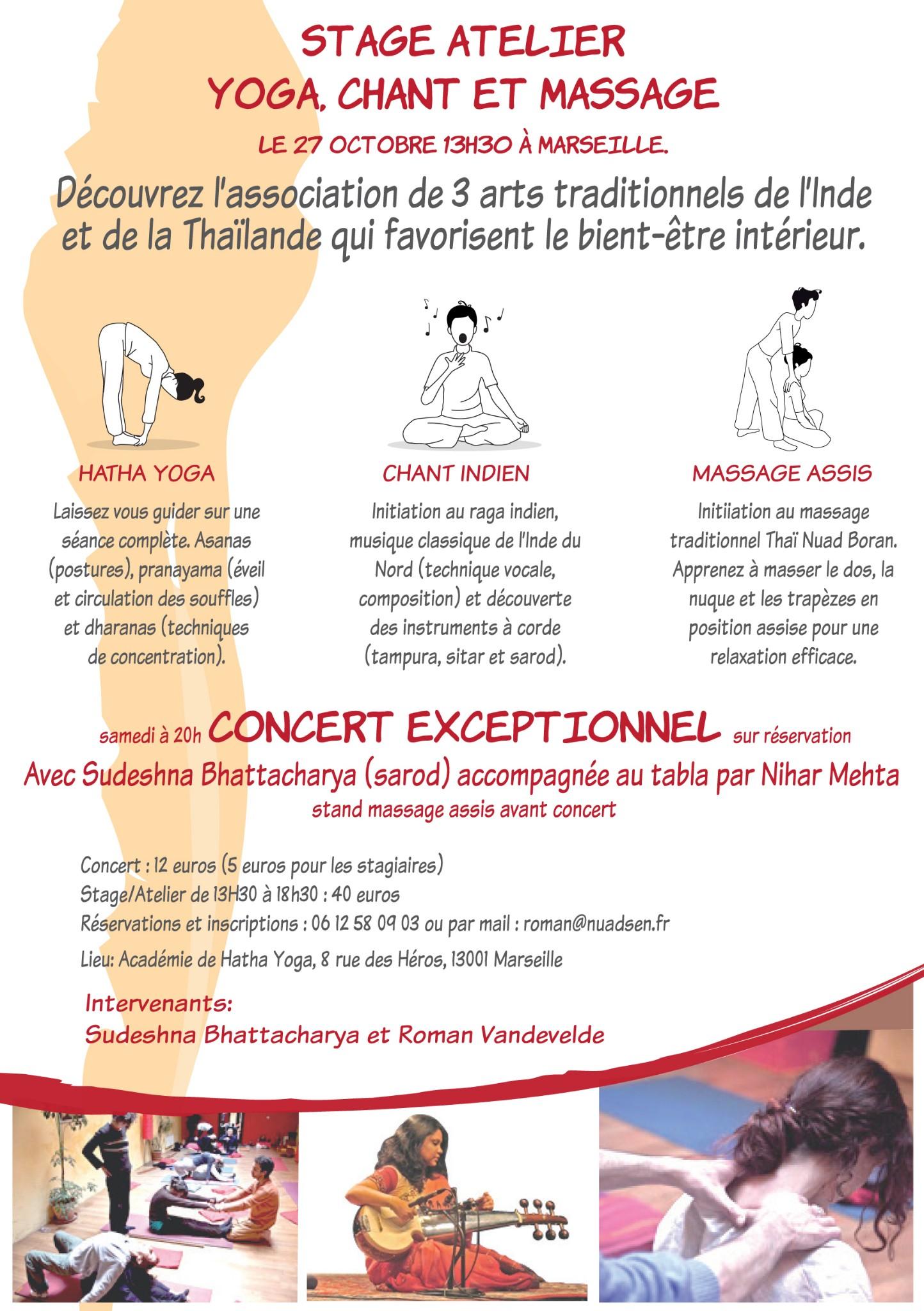 Photo: Sudeshna - 27. October, Marseille, Workshop, concert.