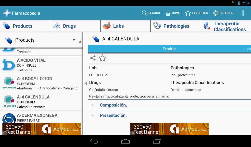 Farmacopedia Argentina- screenshot