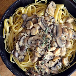 Fettuccine with Mushroom Marsala