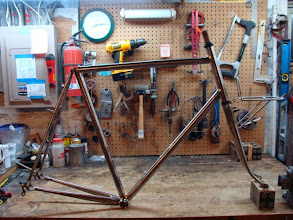 Photo: Finished frame, fork and custom front rack.