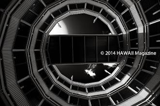 Photo: ABSTRACT CATEGORY, FIRST PLACE. Spiral walkway at Aloha Stadium, Haleiwa, Oahu. Photo by Henry Aguilar, Ewa Beach, Oahu, Hawaii.