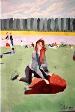"""Photo: Un après-midi au grand canal (162*114 cm) huile sur toile 2010  Exposé à """"LA LOUVIERE"""" 2011 Amis des arts  -                Photo Argentique"""