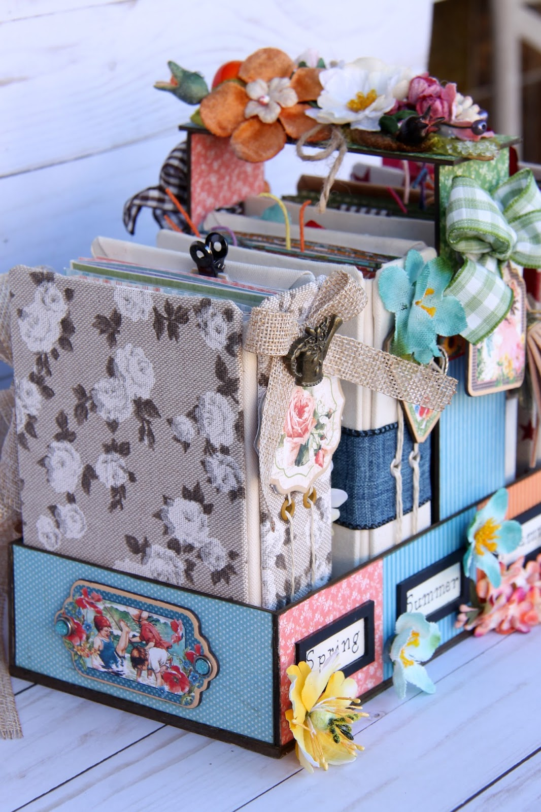 Four seasons Diary Stand G45 Collections Tutorial by Marina Blaukitchen Product by Graphic 45 photo 8.jpg