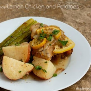 Slow Cooker Lemon Chicken and Potatoes.
