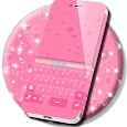 Pink Hearts Keyboard Theme icon