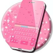 Pink Hearts For GO Keyboard