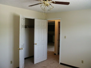 Photo: Large 12'x13' bedroom with large closet and ceiling fan