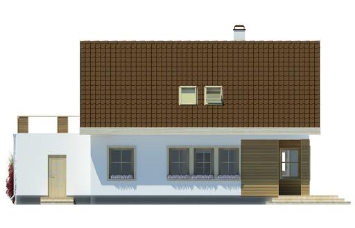 Agatka z tarasem nad garażem - Elewacja tylna