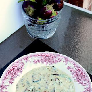 Dahi Baingana – Fried Eggplant in Yogurt Sauce.