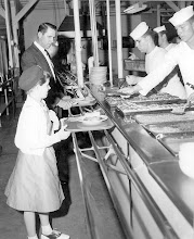 Photo: Beeville Girl Scout Father-Daughter banquet at the Officers galley on March 12, 1959