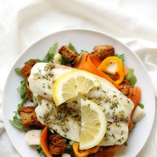Lemon Pepper Tilapia + Spring Arugula Salad & Garlic Herb Croutons