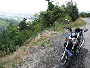 Photo: En route vers le col de la Bataille dans Vercors, point de vue  donnant sur la vallée de Valence