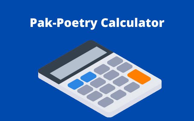 PakPoetry Calculator